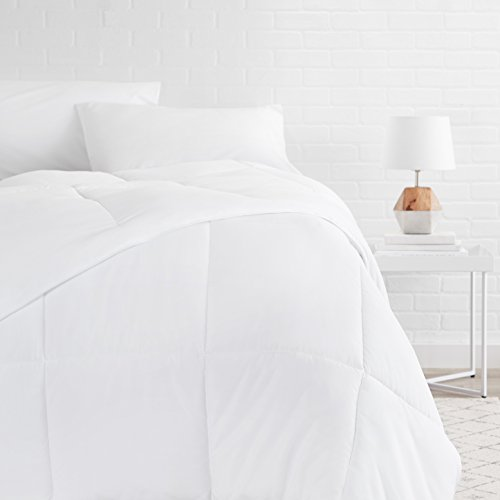 AmazonBasics Down Alternative Bed Comforter, Full / Queen, White