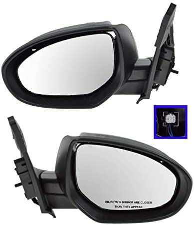 Mirror Power Smooth Black Passenger Side Right RH for 10-13 Mazda 3 Mazda3