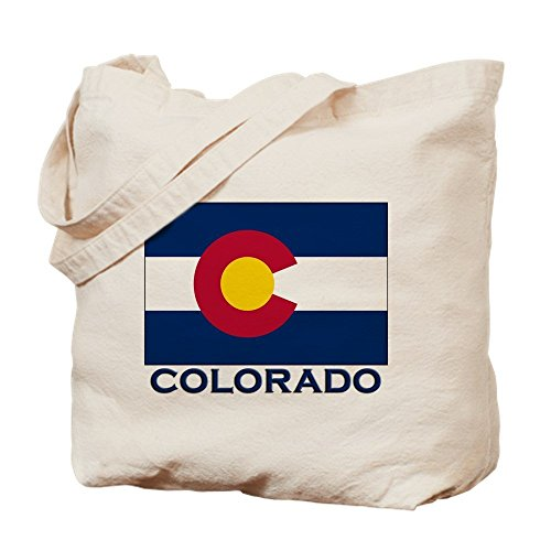IrmaPetty Colorado Flag Merchandise - Natural Canvas Tote Bag, Cloth Shopping ()