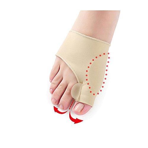 6STARSTORE 2pcs=1pair big toe hallux valgus corrector orthotics feet care bone thumb adjuster correction pedicure socks bunion straightener by 6STARSTORE