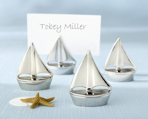 60 ''Shining Sails'' Silver Place Card Holders
