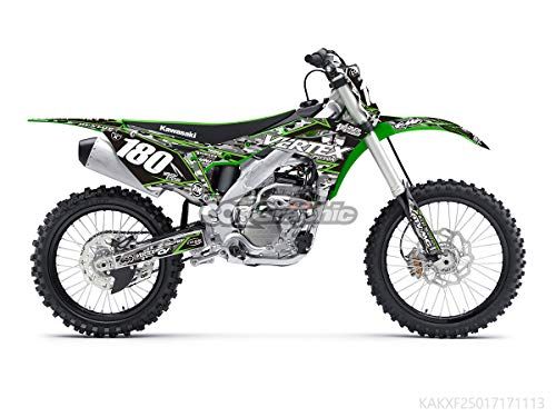 (GRAPHICS DECALS STICKERS FULL KIT FOR KAWASAKI KX250F KXF250 2017-2019)