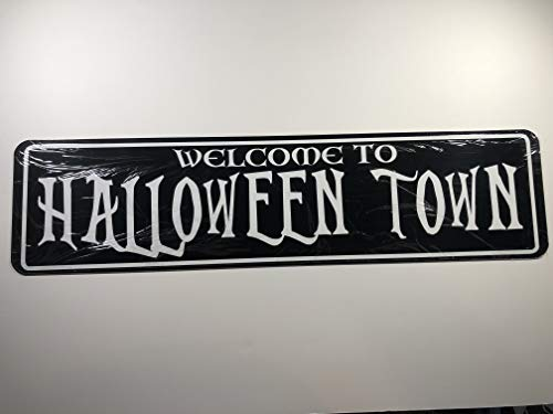 POPCultureSigns Welcome to Halloween Town Aluminum Street Sign 24