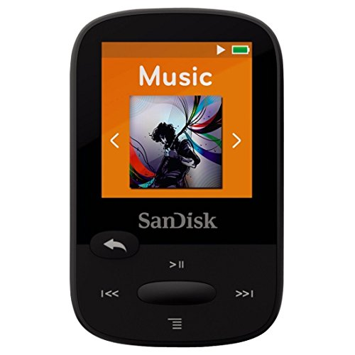SanDisk Clip Sport 4GB MP3 Player, Black With LCD Screen and MicroSDHC Card Slot - Mp3 Ease