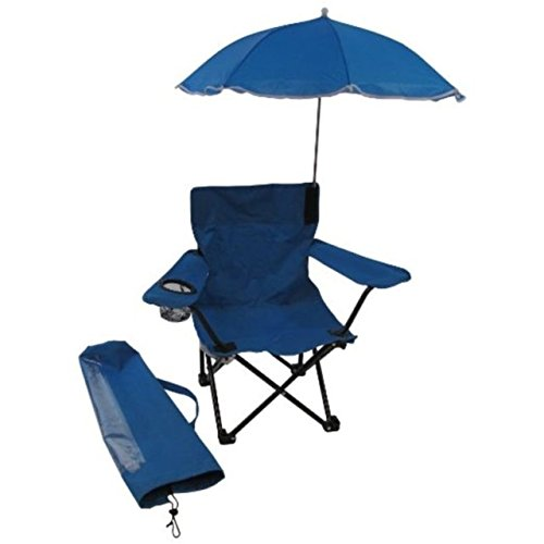 Redmon For Kids Beach Baby Kids Umbrella Camp Chair, Blue (Outdoor Kids Chairs)