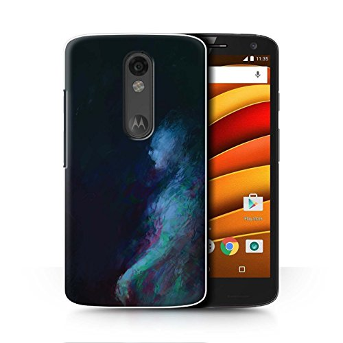 Turbo Ghost (Official Chris Cold Phone Case / Cover for Motorola Droid Turbo 2 / Ghost/Ghoul Design / Dark Art Demon Collection)