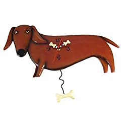Allen Designs Oscar Dachshund Dog Wall Clock Wiener
