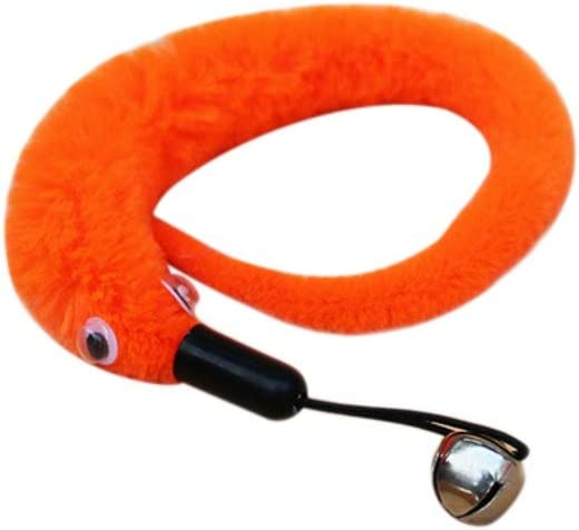Breeezie Cat Kitten Soft Play Twist Rod Wand With Bell Pet Toy