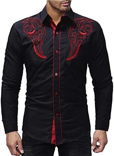 AFASSW Flannel-Camisa De Manga Larga para Hombres Camiseta De Manga Larga De Marca Camisa Casual Coreano De Moda Negocios Bordado Camisa De Vestir Ropa De Hombre Papá Padre No: Amazon.es: Deportes y