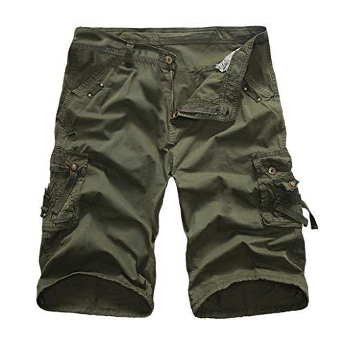 Plage Fête Poche Cargo Pour Shorts Pantalon Extérieure Pure De Survêtement Hommes Couleur Grün Vêtements Armee Pantalons Travail w8ffnACq