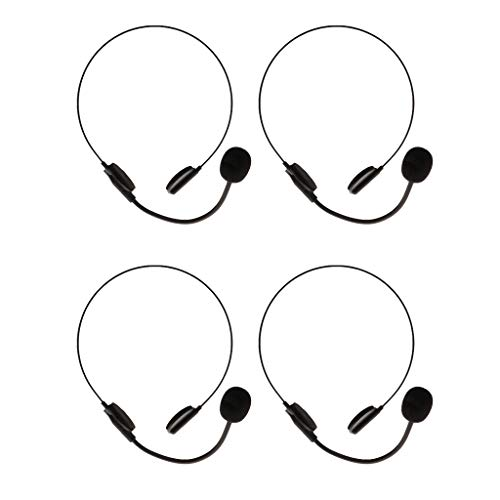 Football Coach Headsets Halloween (Prettyia 4pcs/lot Adults Fashion Funny Black Headset Mic Microphone Halloween Cosplay Costume Accessory)