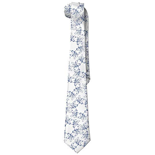 Blue And White Porcelain Necktie Skinny Ties