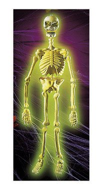 GID 36'' MOLDED SKELETON by FUN WORLD MfrPartNo 8837ACE by Morris Costumes