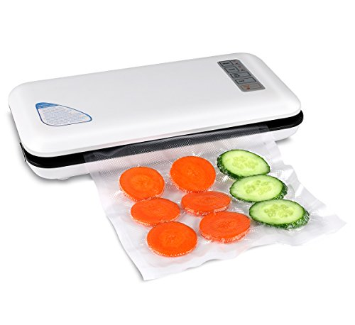 (Vacuum Sealer Automatic&Manual Food Sealer For Food Preservation/Starter Kit with Led Indicator Lights,Compact Design Vacuum Sealer Bags)