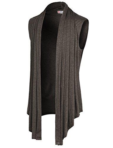 Blend Long Cardigan - H2H Men's Ruffle Shawl Collar Cardigan Lightweight Cotton Blend Long Length Drape Cape HEATHERBROWN US L/Asia XL (CMOCASL01)