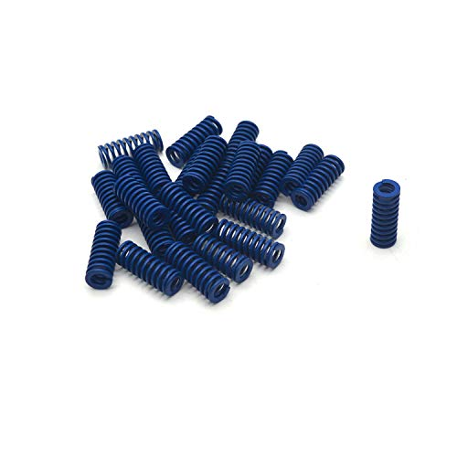 Antrader 8mm OD 4mm ID 20mm Long Light Load Stamping Compression Mould Die Spring Blue 24pcs ()