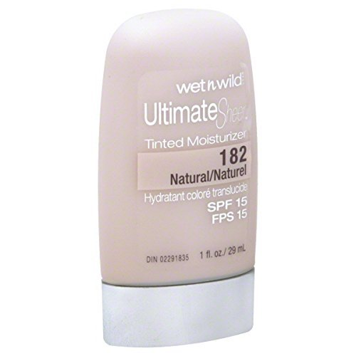 Wet 'n' Wild Ultimate Sheer Tinted Moisturizer, SPF 15, Natural 182, 1 oz.
