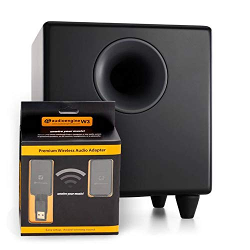 Audioengine S8 Wireless Subwoofer, Small Wireless Powered Subwoofer (Wireless, Black)