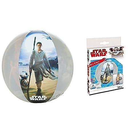 STAR WARS BOLA DE AGUA / Pelota del partido / con motivo von Rey, Kylo Ren y BB8 y flotador / Colchoneta sternenzerstörer: Amazon.es: Juguetes y juegos