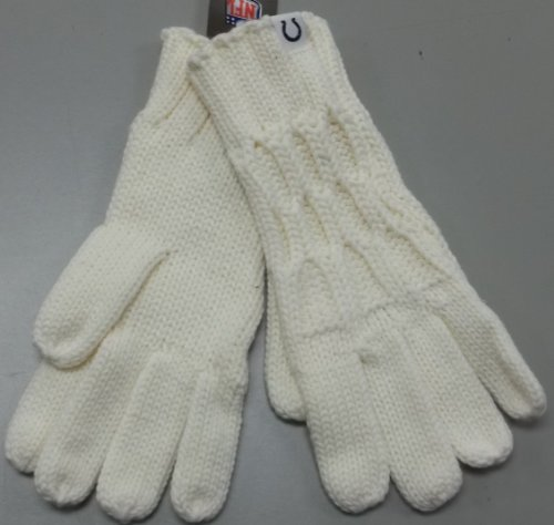 Reebok Ribbed Jersey - Reebok Indianapolis Colts Women's Cream Knit Gloves One Size Fits All