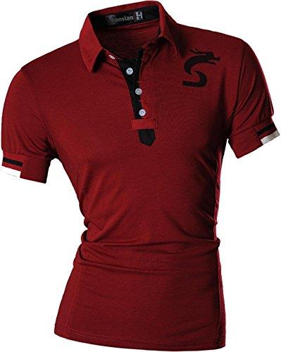 Men Courtes U007 winered T Polo Fashion Casual Pour Hommes shirts Manches D403 Jeansian 1gfXn