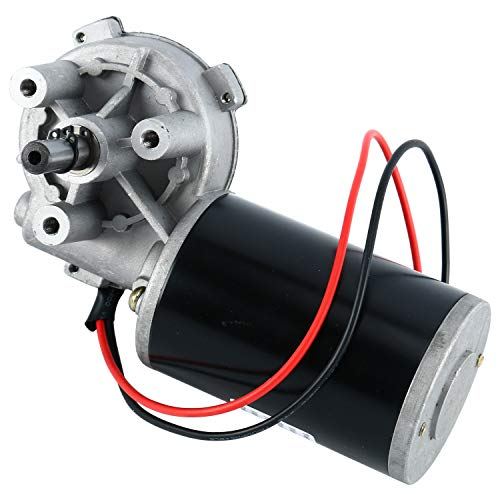 DC 24V 80W 160RPM 4N M Reversible Worm Gear Motor High Torque Speed  Reducing Electric Gearbox Motor, Left Angle
