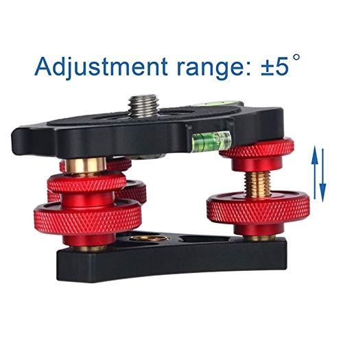ningbao771 LP-64 Camera Tripod Head Leveling Base Aluminum Alloy Triple-Wheel Precision Leveler Bubble Level 3//8 Screw Load 15kg
