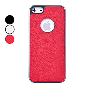 get DEVIA Litchi Pattern Electroplate Frame PU Leather High Quality Hard Case for iPhone 5/5S (Assorted Colors) , White