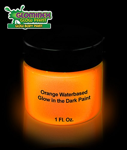 Glominex Glow in the Dark Face and Body Paint 1 oz Jar - -