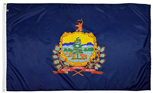 FlagSource Vermont Nylon State Flag, Made in The USA, 3x5' (Best State For Agriculture In Usa)