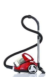 Dirt Devil M2013-1 Centrino Cleancontrol - Aspiradora (2200 W, boquilla de parqué y turbo, filtro laminado extra, 2 protectores de filtro), color rojo