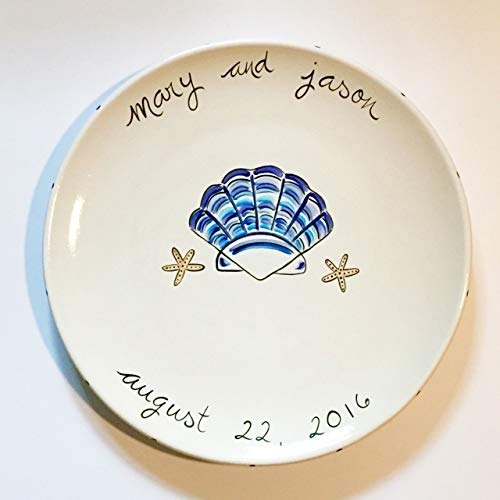 - Beach Themed Seashell Personalized Wedding Platter