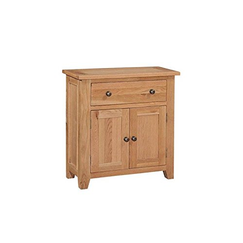 Canterbury Mini Small Sideboard / Solid Oak 2 Door, 1 Drawer Sideboard / Lacquered Finish