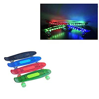 Skateboard for Kids, with Bluetooth Speaker Function, LED Cruiser, 22 inches, 4 Colors, 220 Lbs : Sports & Outdoors