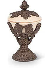 Gg Collection Pedestal Nut Bowl - Cream - Baroque by GG Collection