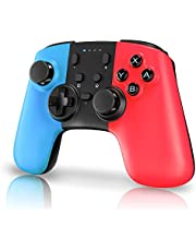Controller for Nintendo Switch, STOGA Wireless Pro Controller Compatible with Nintendo Switch Supporting Gyro Axis Function & Dual Shock (Red&Blue)