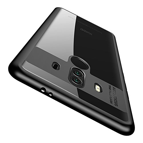 Huawei Mate 10 Pro Case, Vinve Slim Anti-Scratch Shockproof Cover Clear Hard Back Panel + TPU Bumper Protective Case for Huawei Mate 10 Pro (Black)