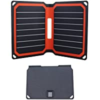 Foldable Solar Charger FlexSolar 8.5W Portable Sunpower Solar Panel with USB Port for Power Bank Smart Phone and All 5V Electronic Devices Orange