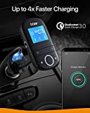 Anker Roav SmartCharge F3 Wireless Bluetooth 4.2 FM Transmitter for Car, Audio Adapter and Reciever Car Kit, 1.44 Inch Display, Dedicated App, Quick Charge 3.0, AUX Output, microSD Card Slot