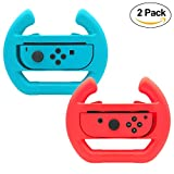 Volante para el controlador de interruptor de Nintendo, Juego de carreras Manipulate Grip Steering for Nintendo Switch Joy-Con (2 paquetes) (Blue And Red)