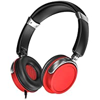 Take Sentey LS-4232 Phaint Red Headphones with Microphone, Inline Control for Travel, Running, Sports Headset, Audio... discount