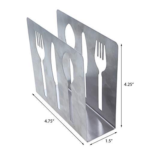 Stainless Steel Napkin Holder and Stainless Steel Salt and Pepper Shaker Set