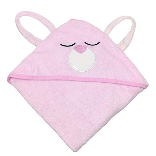 SWEET DOLPHIN Bamboo Baby Towel (Pink Rabbit, 30×30 INCH)