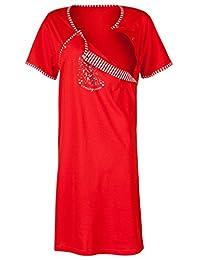 Happy Mama. Womens Maternity Nursing Breastfeeding Nightdress Shirt Gown. 238p