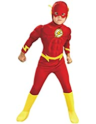 Rubies Costume Co Rubies DC Comics Deluxe Muscle Chest The Flash Costume, Small