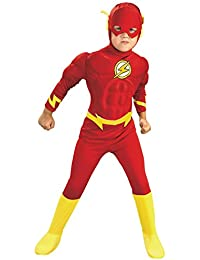 Rubies Costume Co Rubies DC Comics Deluxe Muscle Chest The Flash Costume, Toddler