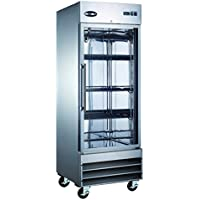 Heavy Duty Commercial Stainless Steel Reach-In Refrigerator (One Glass Door)