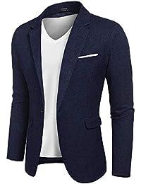 f5f5e8dbe8f2 Men's Casual Suit Blazer Jackets Lightweight Sports Coats One Button
