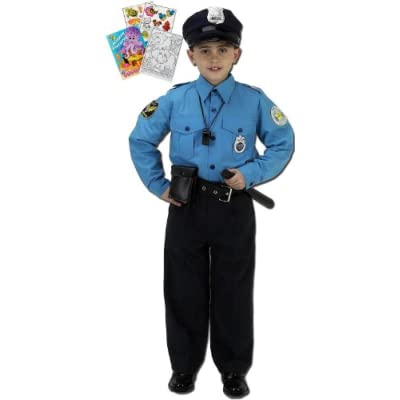 Aeromax Jr Police Officer Suit Age 4 6 With Cap Free Shipping