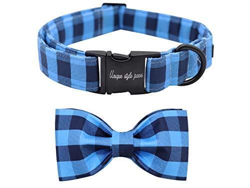 collar para perro black blue Unique Style Paws large